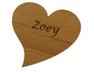 wooden heart keepsake