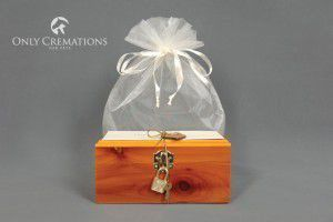 wooden cremation box