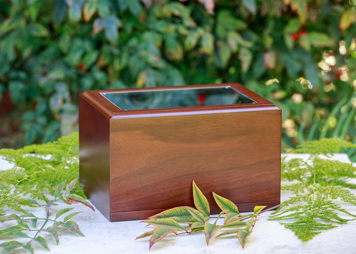 one walnut photo urn