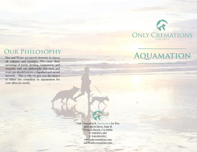 page from brochure describing only cremation's philosophy